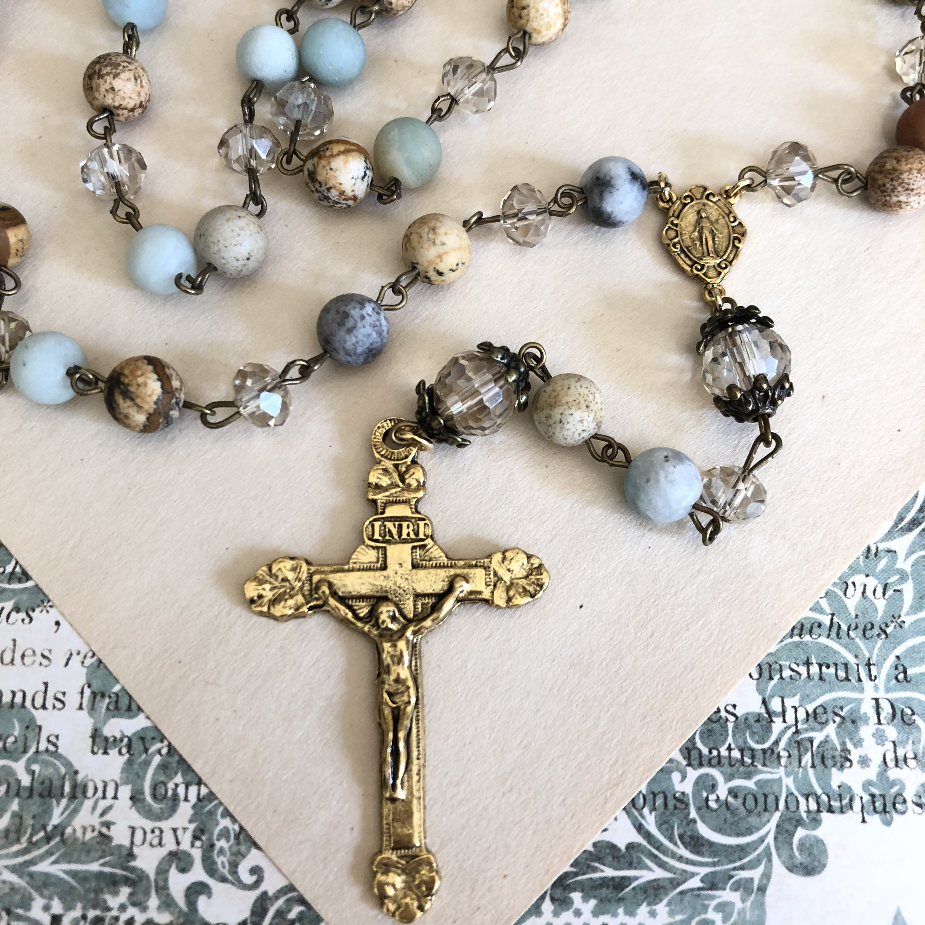 Chalcedony Handcrafted Rosary